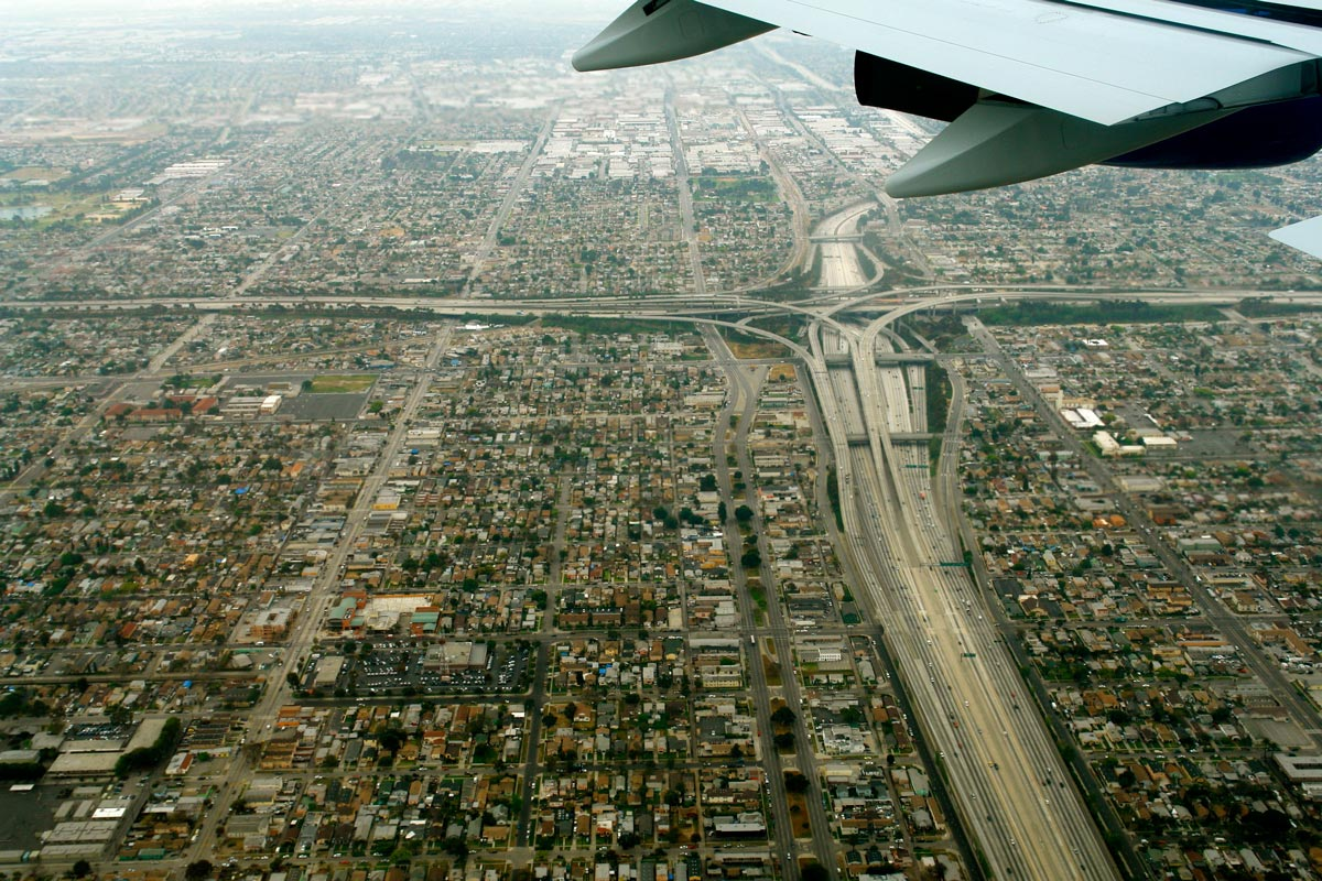 Aerial view of LA