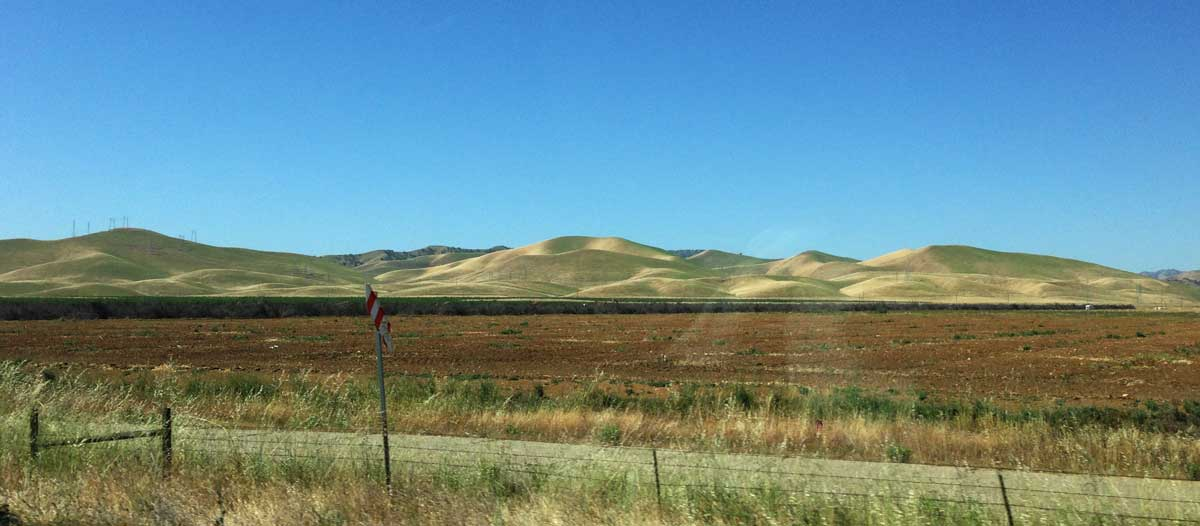 Typical Californian landscape